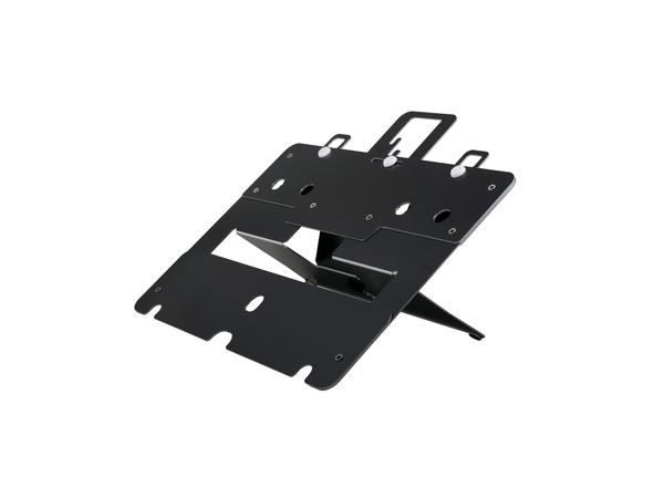 R-Go Tools Agile integrierter Laptopständer, 130 - 215 mm, 30 - 60°, Aluminium, Schwarz