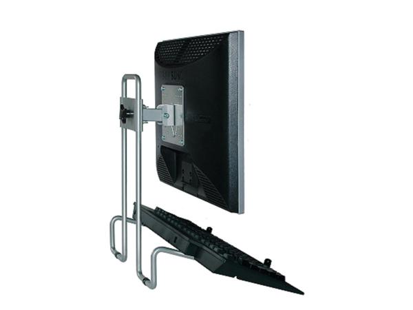 R-Go Tools Flex Monitorständer, 75 x 75 mm, 100 x 100 mm, 0 - 375 mm, 0 - 90°, Silber, Stahl