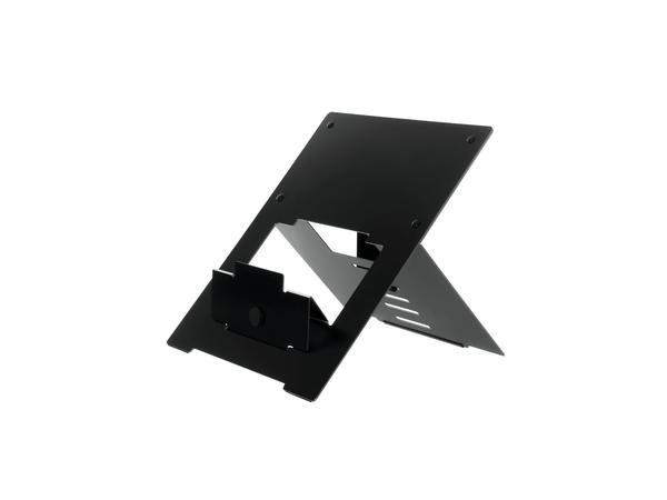 R-Go Tools Riser Laptopständer schwarz, 135 - 220 mm, 30 - 57°, Aluminium, Schwarz