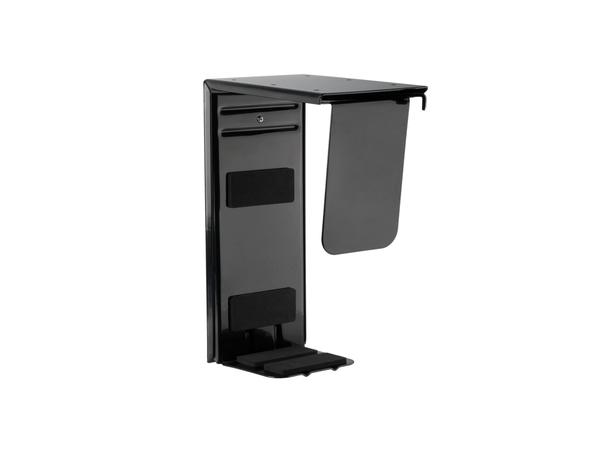 R-Go Tools CPU Halterung Basic (schwarz), Desk-mounted CPU holder, Schwarz, Stahl, 75 - 200 mm, 235 x 345 x 155 mm