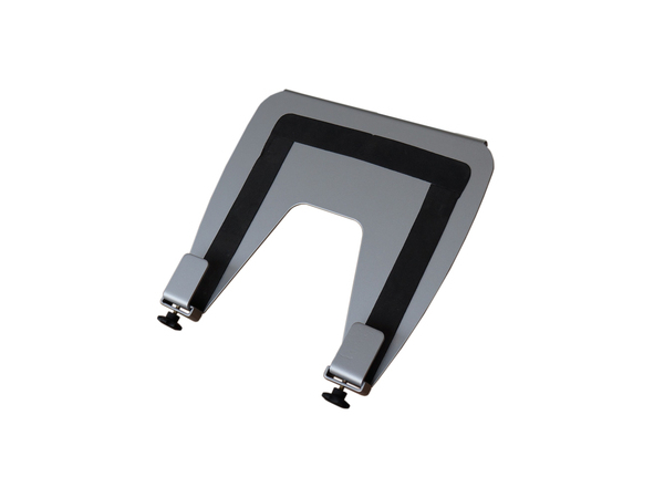 R-Go Tools Laptopplattform, 110 - 350 mm, 130 - 550 mm, 0 - 180°, Metall, Schwarz, Grau, 75 x 75, 100 x 100 mm