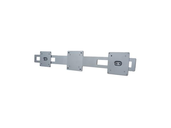 R-Go Tools Wing für 2 Bildschirme (silber), 140 x 780 x 46 mm, Silber