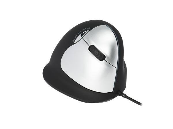 R-Go HE Mouse Vertical Mouse Large Right - Maus - 5 Tasten - verkabelt - USB