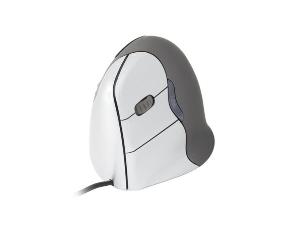 Evoluent VerticalMouse 4 Left - Maus - Für Linkshänder - Laser - 6 Tasten - verkabelt