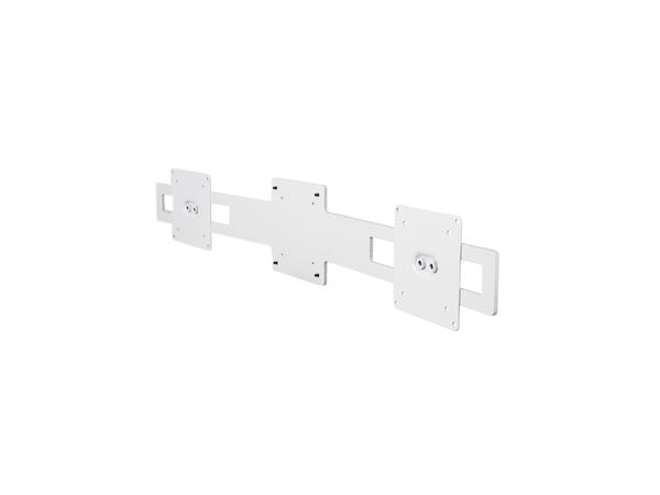 R-Go Tools Wing für 2 Bildschirme (weiß), 360°, 180°, 0 - 180°, 2,03 kg, 125 mm, 720 mm