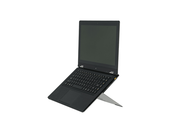R-Go Tools Riser Attachable Laptopständer silber, 65 - 85 mm, 30 - 45°, Aluminium, Silber