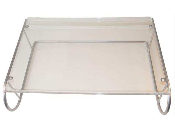R-Go Tools XL Monitorständer, 390 x 530 x 140 mm, Silber
