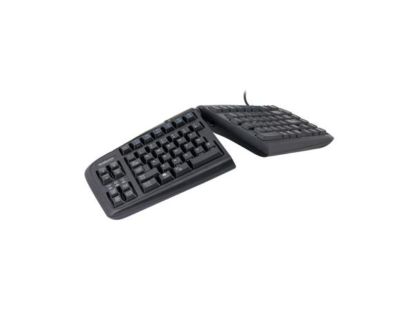 R-Go Tools Goldtouch Geteilte Tastatur AZERTY, Standard, Verkabelt, USB, AZERTY, Schwarz