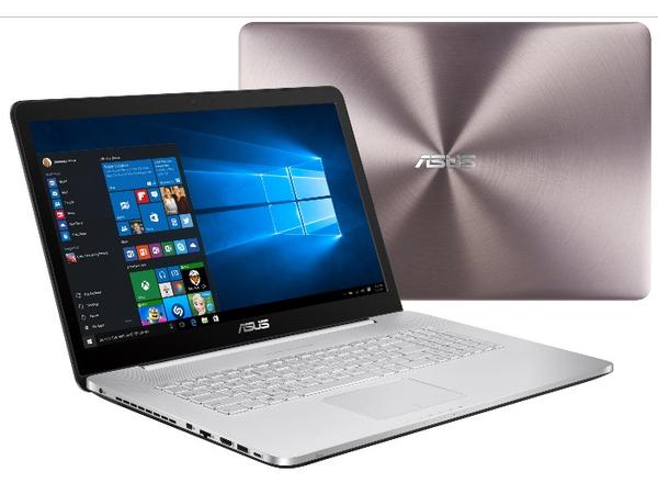 ASUS VivoBook Pro N752VX GC131T - Core i7 6700HQ / 2.6 GHz - Win 10 Home 64-Bit - 8 GB RAM - 256 GB SSD + 1 TB HDD - DVD SuperMulti