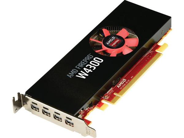 AMD FirePro W4300 - Grafikkarten - FirePro W4300 - 4 GB - PCIe x16 - 4 x Mini DisplayPort