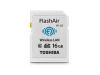Toshiba FlashAir W-03 - Wireless-Speicherkarte - 16 GB - Class 10 - SDHC - Wi-Fi