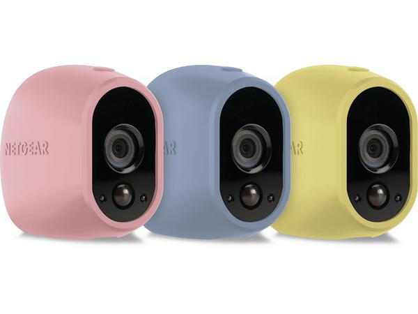 Arlo Replaceable Skins - Kameraschutzhülle - Blau, Gelb, pink (Packung mit 3) - für Arlo VMS3130, VMS3230, VMS3330, VMS3430, VMS3530