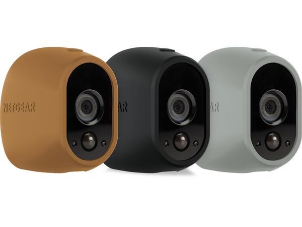 Arlo Replaceable Skins - Kameraschutzhülle - Grau, Schwarz, braun (Packung mit 3) - für Arlo VMS3130, VMS3230, VMS3330, VMS3430, VMS3530