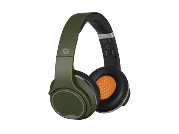 Conceptronic CHSPBTSPKG - Kopfhörer mit Mikrofon - Full-Size - drahtlos - Bluetooth - grün