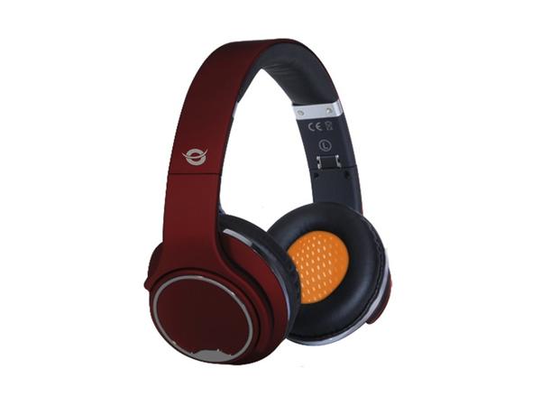 Conceptronic CHSPBTSPKR - Kopfhörer mit Mikrofon - Full-Size - drahtlos - Bluetooth - Rot