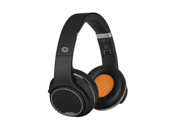 Conceptronic CHSPBTSPKBLK - Kopfhörer mit Mikrofon - Full-Size - drahtlos - Bluetooth - Schwarz