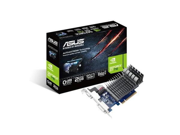 ASUS 710-2-SL-BRK - Grafikkarten - GF GT 710 - 2 GB DDR3 - PCIe 2.0 - DVI, D-Sub, HDMI