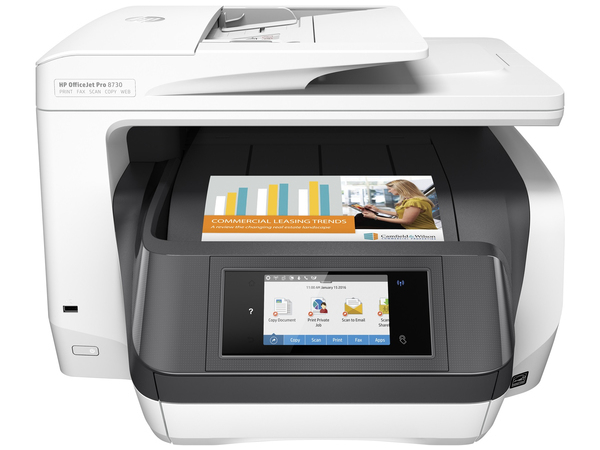 HP Officejet Pro 8730 All-in-One - Multifunktionsdrucker - Farbe - Tintenstrahl - Legal (216 x 356 mm) (Original) - A4/Legal (Medien)