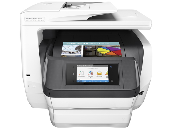 HP Officejet Pro 8740 All-in-One - Multifunktionsdrucker - Farbe - Tintenstrahl - A4 (210 x 297 mm), Legal (216 x 356 mm) (Original) - A4/Legal (Medien)