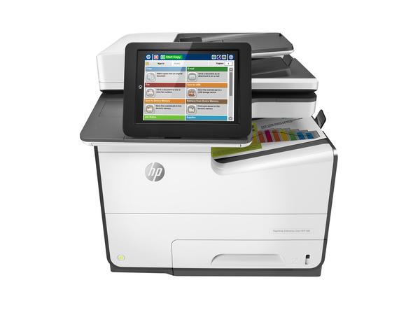 HP PageWide Enterprise Color MFP 586f - Multifunktionsdrucker - Farbe - seitenbreite Palette - 216 x 356 mm (Original) - A4/Legal (Medien)