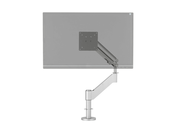 R-Go Tools Caparo 3 Pro Monitorarm, Clamp, 75 x 75 mm, 100 x 100 mm, 240 - 531 mm, 0 - 40°, Silber