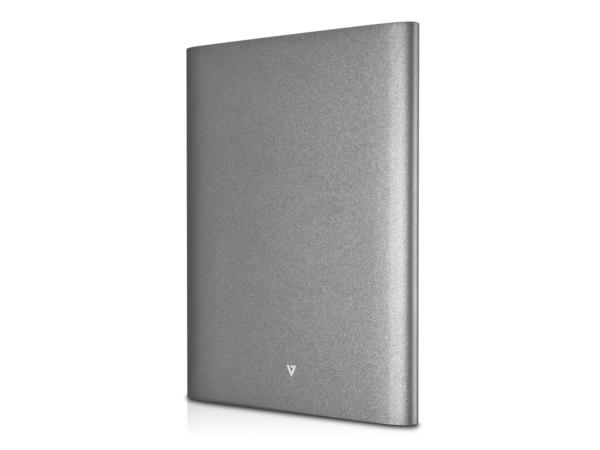 V7 Select Ultra-Slim - Ladegerät Li-Pol 17915 mAh - 21 Watt - 4.2 A - 2 Ausgabeanschlussstellen (USB (nur Strom)) - Dunkelgrau