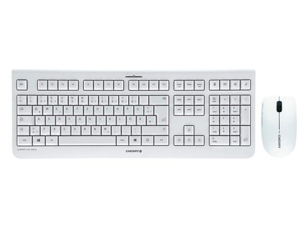 CHERRY DW 3000 - Tastatur-und-Maus-Set - drahtlos - 2.4 GHz - Deutschland - weiß