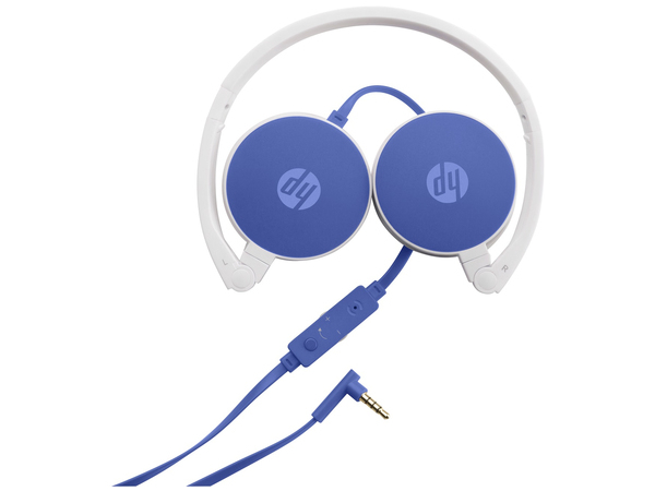 HP H2800 - Kopfhörer mit Mikrofon - Full-Size - 3,5 mm Stecker - Blau