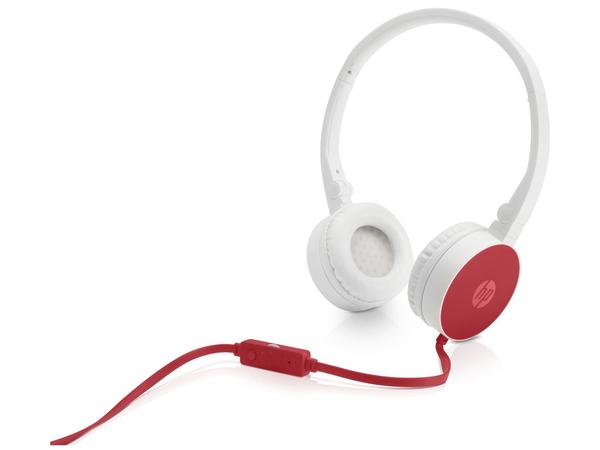 HP H2800 - Kopfhörer mit Mikrofon - On-Ear - 3,5 mm Stecker - Rot