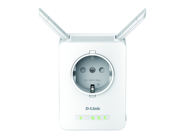 Wireless Range Extender SchuKo N300, 11/54/300Mbit/s, 802.11b/g/n (2,4GHz), kompakter Repeater im Steckernetzteil-Design, integrierte Steckdose, 2 externe ausklappbare Antennen, 1x 10/100Mbit/