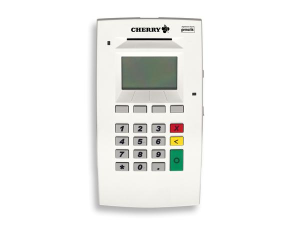 CHERRY eHealth Terminal ST-1503 - SmartCard Lese-/Schreibgerät - USB, Ethernet - Grau, weiß