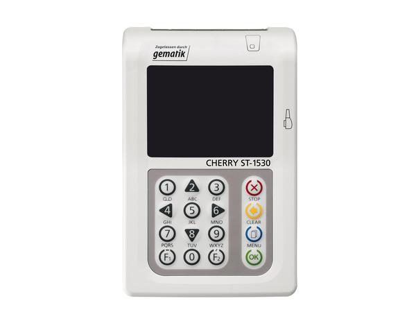CHERRY Mobiles Terminal ST-1530 - SMART-Kartenleser - USB - Grau, weiß