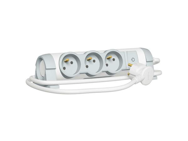 C2G Multi-Outlet Extension for Comfort - Verlängerungsschnur - Wechselstrom 230 V - 3500 Watt - Eingabe, Eingang Stromversorgung - Ausgangsbuchsen: 3 (3-polig (Frankreich/Belgien))