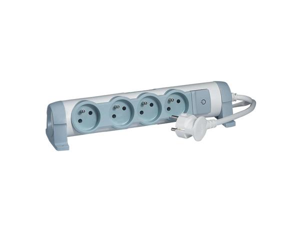 C2G Multi-Outlet Extension for Comfort - Verlängerungsschnur - Wechselstrom 230 V - 3500 Watt - Eingabe, Eingang Stromversorgung - Ausgangsbuchsen: 4 (3-polig (Frankreich/Belgien))