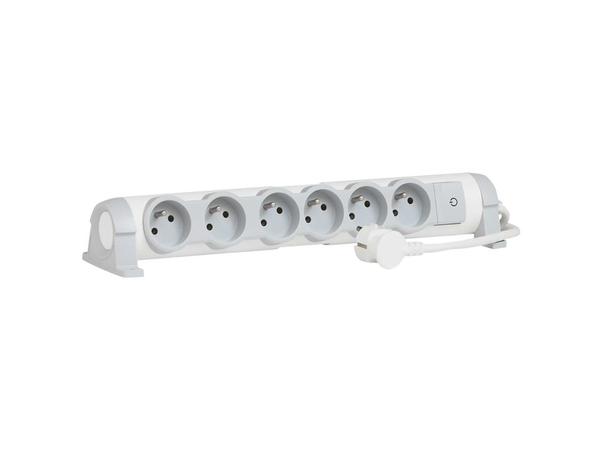 C2G Multi-Outlet Extension for Comfort - Verlängerungsschnur - Wechselstrom 230 V - 3500 Watt - Eingabe, Eingang Stromversorgung - Ausgangsbuchsen: 6 (3-polig (Frankreich/Belgien))