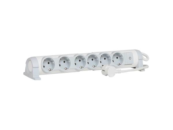 C2G Multi-Outlet Extension for Comfort - Verlängerungsschnur - Wechselstrom 230 V - 3500 Watt - Eingabe, Eingang Stromversorgung - Ausgangsbuchsen: 6 (2-polig)
