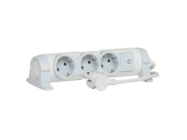C2G Multi-Outlet Extension for Comfort - Verlängerungsschnur - Wechselstrom 230 V - 3500 Watt - Eingabe, Eingang Stromversorgung - Ausgangsbuchsen: 3 (2-polig)