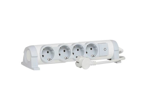 C2G Multi-Outlet Extension for Comfort - Verlängerungsschnur - Wechselstrom 230 V - 3500 Watt - Eingabe, Eingang Stromversorgung - Ausgangsbuchsen: 4 (2-polig)
