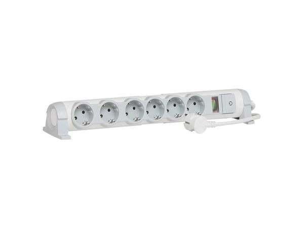 C2G Multi-Outlet Extension for Comfort/Safety - Verlängerungsschnur - Wechselstrom 230 V - 3500 Watt - Eingabe, Eingang Stromversorgung - Ausgangsbuchsen: 6 (2-polig)