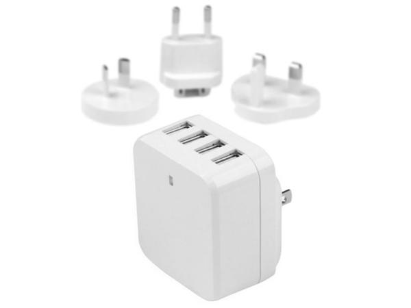StarTech.com 4-Port USB Wall Charger - International Travel - 34W/6.8A - Netzteil - 34 Watt - 6.8 A