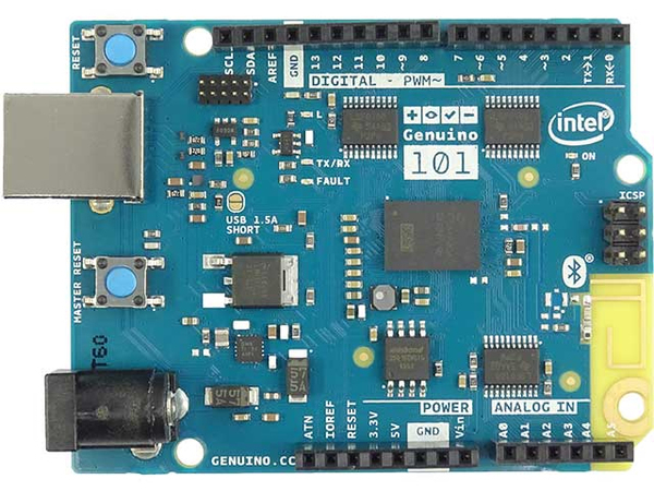 Intel Genuino 101*, Arduino-Schild, 22 nm, 0,3 W, FLASH, RAM, 2 GB, Arduino-Schild