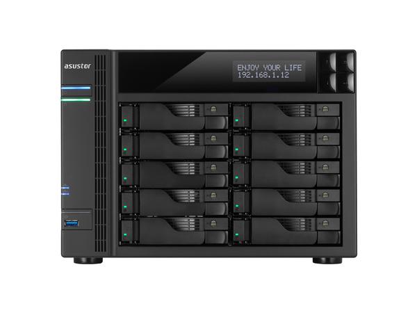 ASUSTOR AS6210T - NAS-Server - 10 Schächte - SATA 6Gb/s / eSATA 6Gb/s - RAID 0, 1, 5, 6, 10, JBOD - Gigabit Ethernet