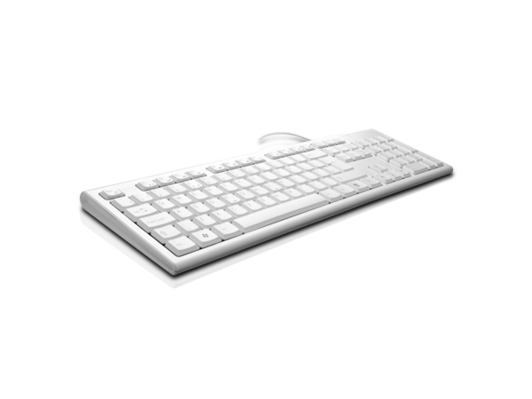 KEYBOARD DESKTOP USB WHITE ENG