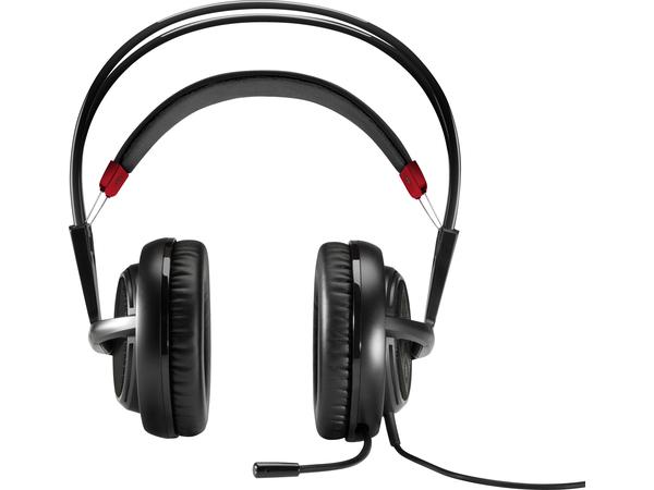 HP OMEN Headset with SteelSeries - Headset - Full-Size - Schwarz, Rot - für OMEN by HP; OMEN X by HP