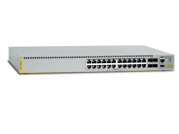 Allied Telesis AT X510-28GTX - Switch - L2+ - verwaltet - 24 x 10/100/1000 + 2 x 10 Gigabit Ethernet / 1 Gigabit Ethernet SFP+ + 2 x 10 Gigabit SFP+ - an Rack montierbar