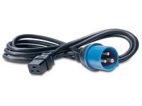 APC - Stromkabel - IEC 60320 C19 (W) bis IEC 60309 (M) - 2.4 m - Schwarz - für P/N: SMX3000RMHV2UNC, SUA2200RMXLI3U, SUA3000I, SUA3000R2IX322, SURT3000XLI/S