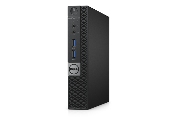 Dell OptiPlex 3040 - Micro - 1 x Core i3 6100T / 3.2 GHz - RAM 4 GB - SSD 128 GB - HD Graphics 530