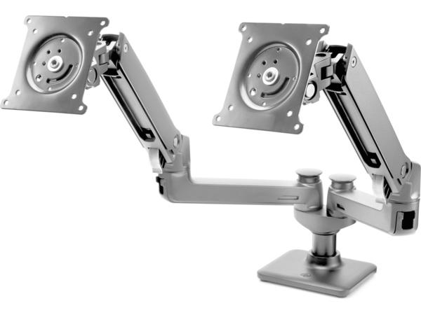 HP Hot Desk 2nd Monitor Arm - Montagekomponente (Monitorarm) für LCD-Display/Notebook - Bildschirmgröße: bis zu 68,6 cm (bis zu 27 Zoll)