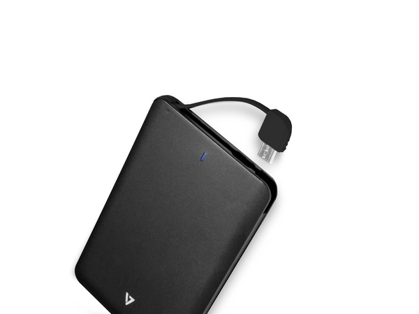 V7 - Ladegerät Li-Pol 2500 mAh - 1 A (Mikro-USB Typ B (nur Strom)) - Schwarz