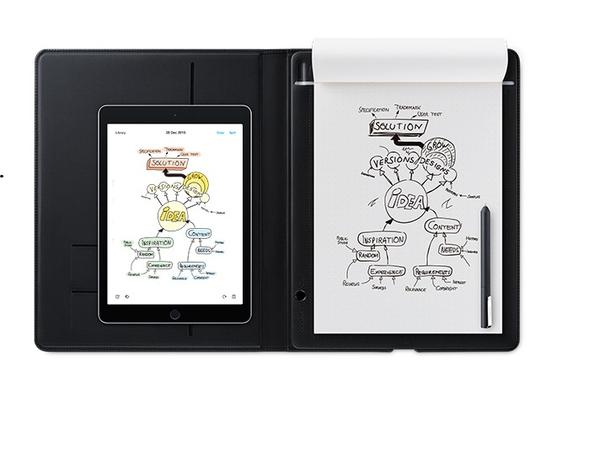 Wacom Bamboo Folio - Digitalisierer - elektromagnetisch - drahtlos - Bluetooth, micro USB - Dunkelgrau